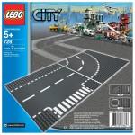 LEGO City Rak T-Korsning & Kurva 7281