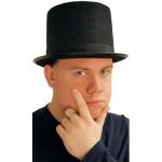 Svart Hög Hatt
