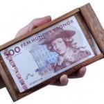 Presentask för pengar